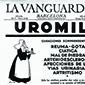 Primeira página do jornal La Vanguardia de domingo, 26 de Janeiro de 1936