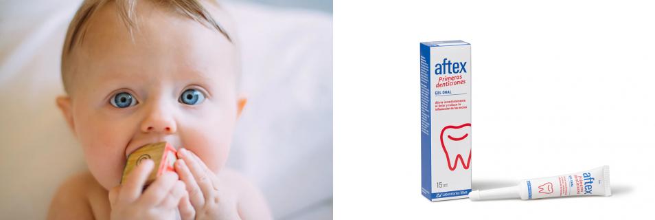 Aftex Primeras denticiones: alivio inmediato para tu bebé